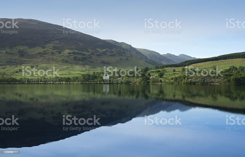 loch earn calm blue waters highlands scotland royalty-free stock photo