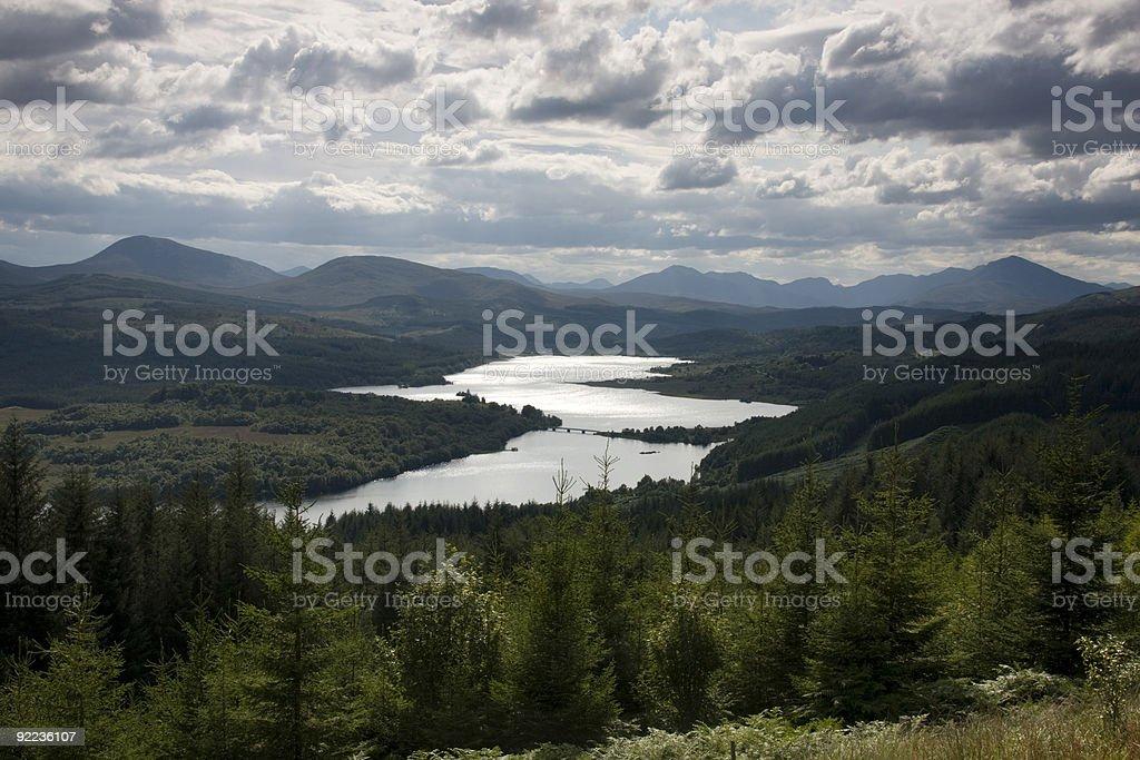 Loch Garry in Scotland stock photo
