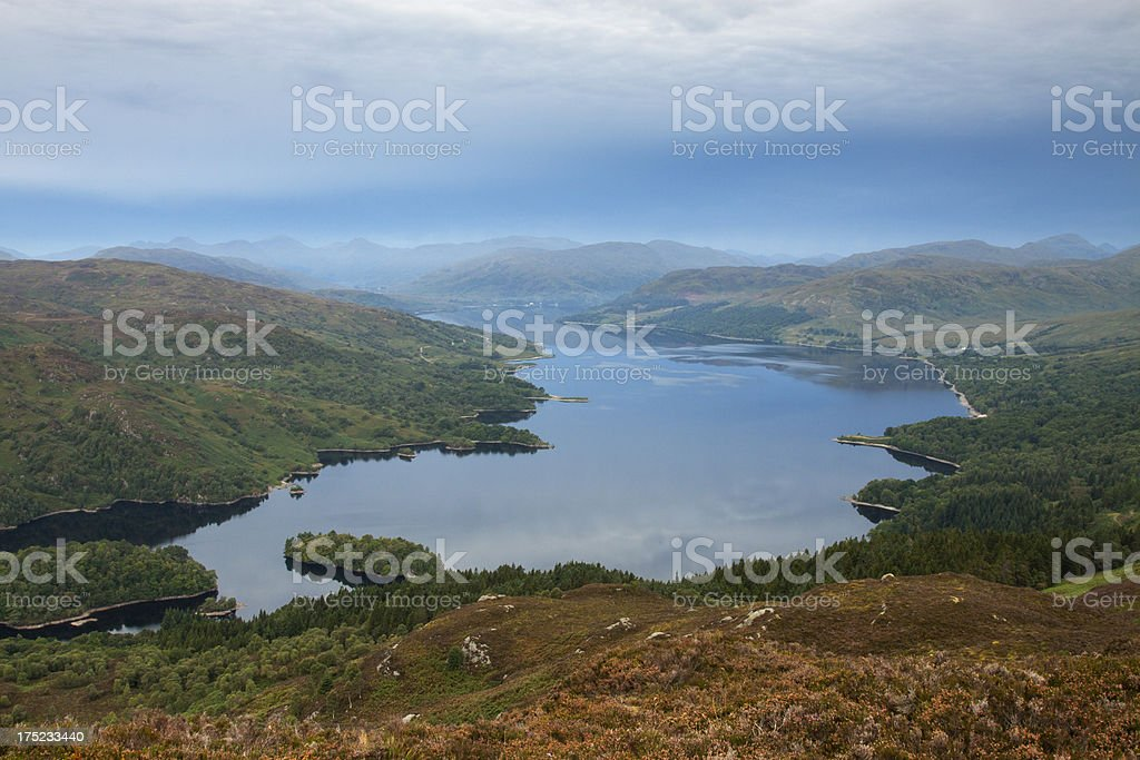 Loch Katrine from Ben A'an royalty-free stock photo