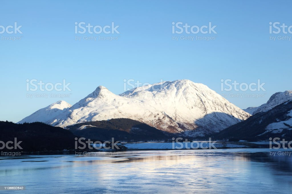 Loch Leven and Glencoe, Scottish Highlands, Scotland, UK stock photo