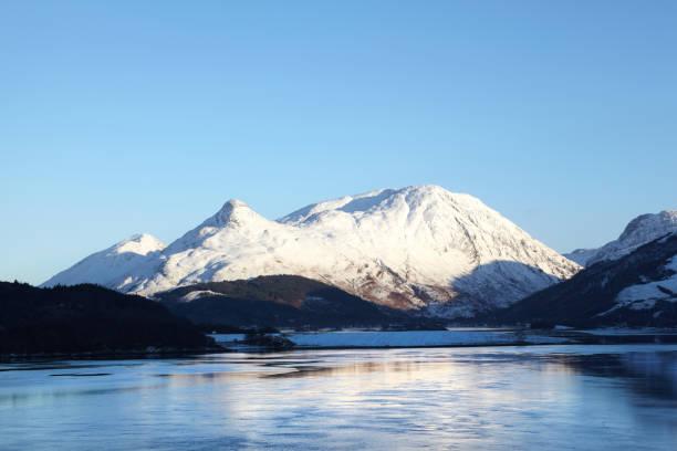 Loch Leven and Glencoe, Scottish Highlands, Scotland, UK stock photo