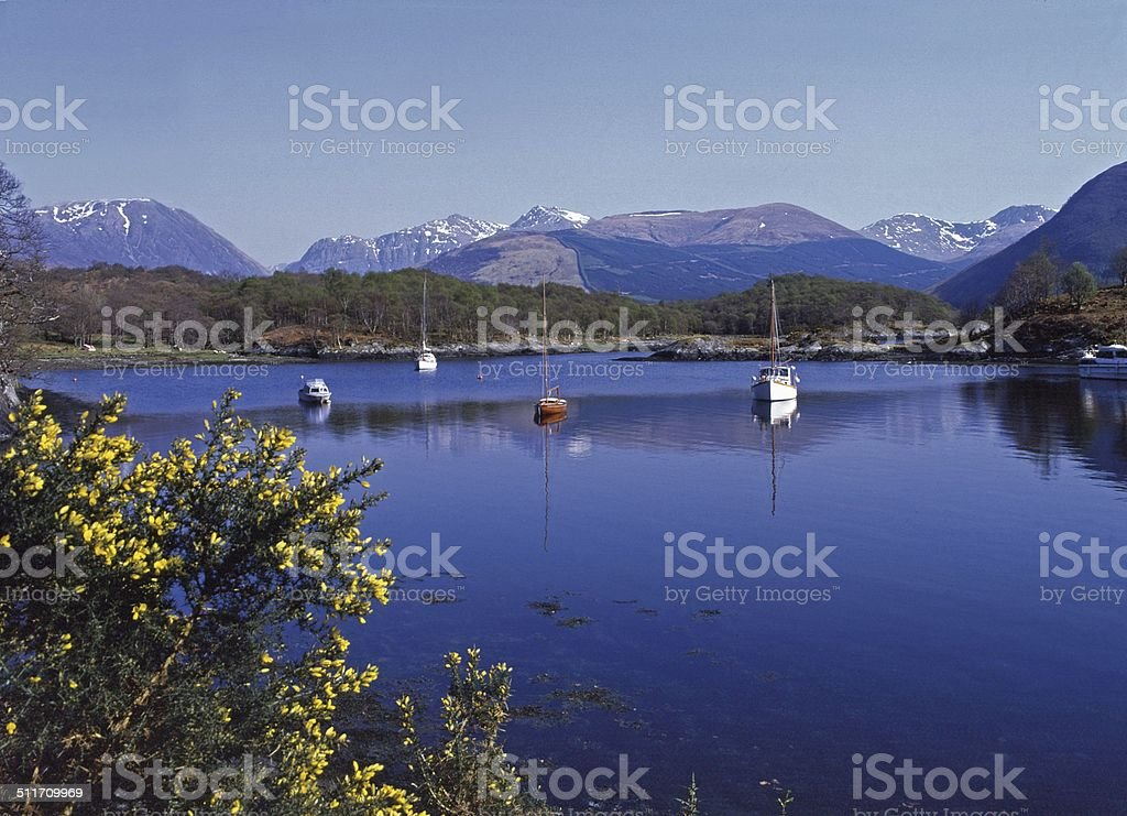 Loch Leven at North Ballachulish near Glencoe. stock photo