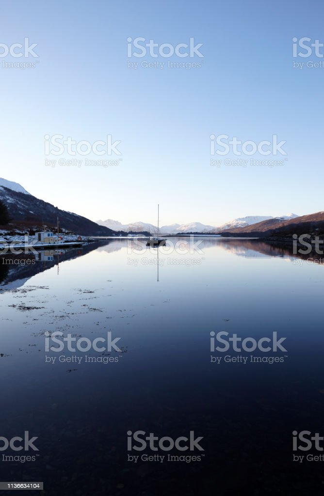Loch Leven, Glencoe, Scottish Highlands, Scotland, UK stock photo