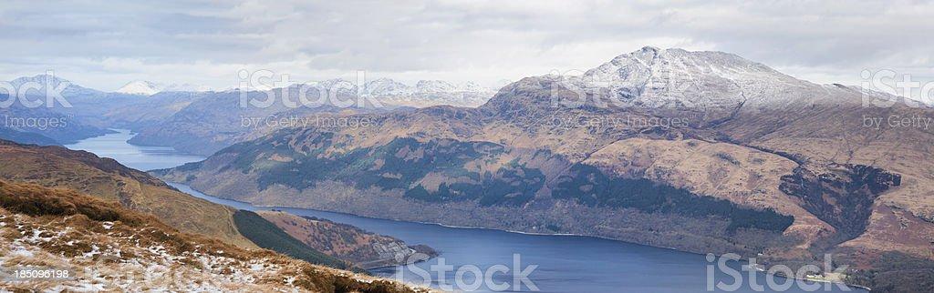 Loch Lomond from Beinn Dubh royalty-free stock photo