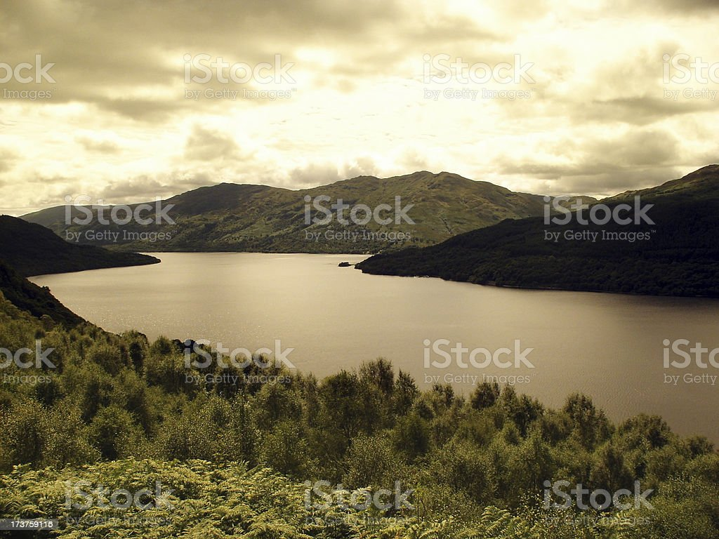 Loch Lomond in the Summer royalty-free stock photo