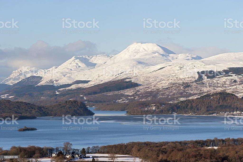Loch Lomond In Winter royalty-free stock photo