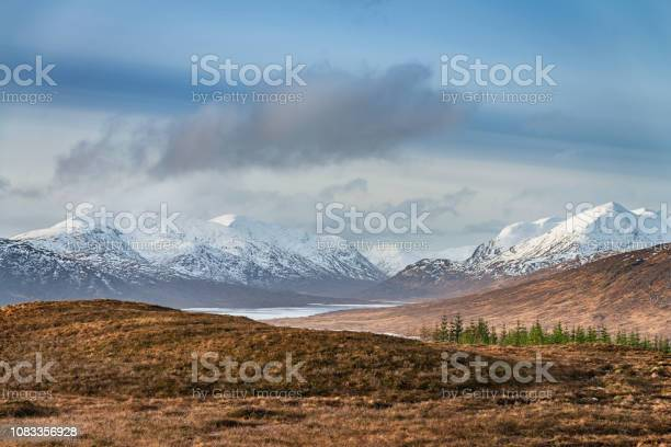 Loch Loyne Snowcapped Mountains Scottish Highlands Winter Scotland Stock Photo - Download Image Now