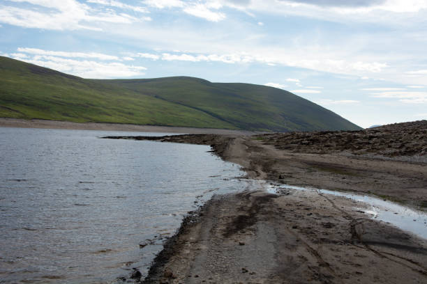 Loch meets inlet stock photo