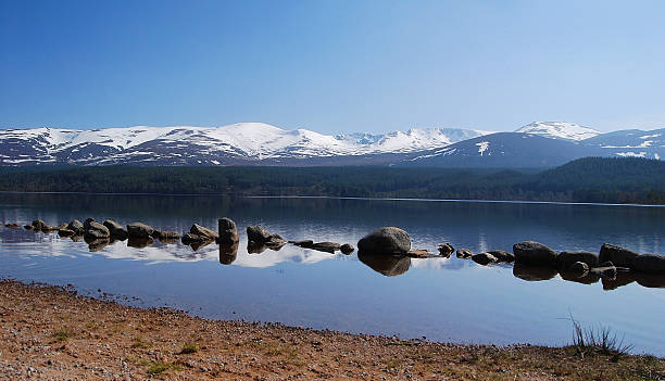 Loch Morlich stock photo