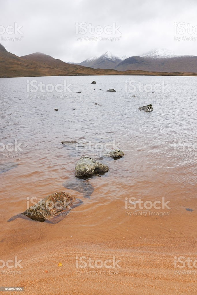 Loch Na h-Achlaise stock photo