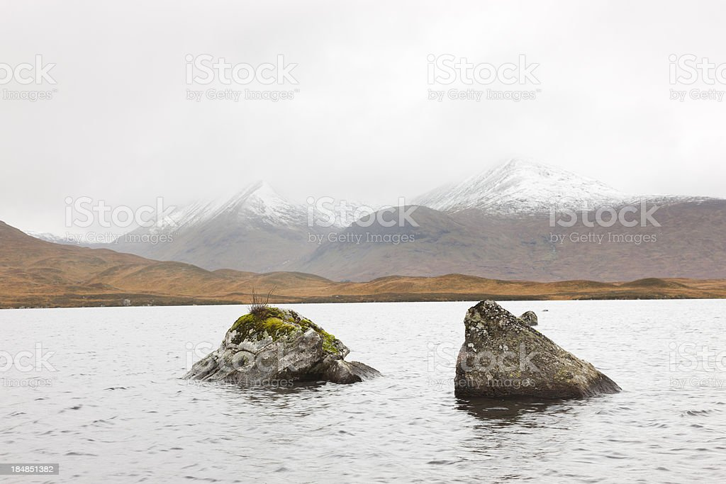 Loch Na h-Achlaise, Rannoch Moor stock photo