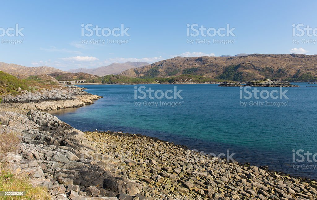 Loch Nan Uamh beautiful Scottish loch west Scotland near Arisaig foto de stock royalty-free