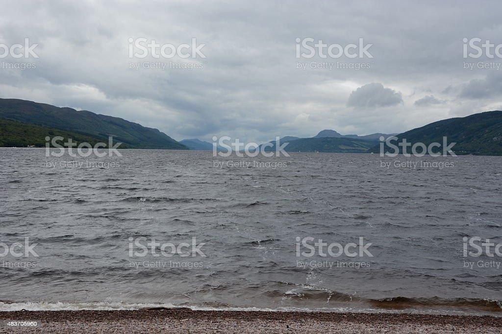 Loch Ness in Cloud stock photo