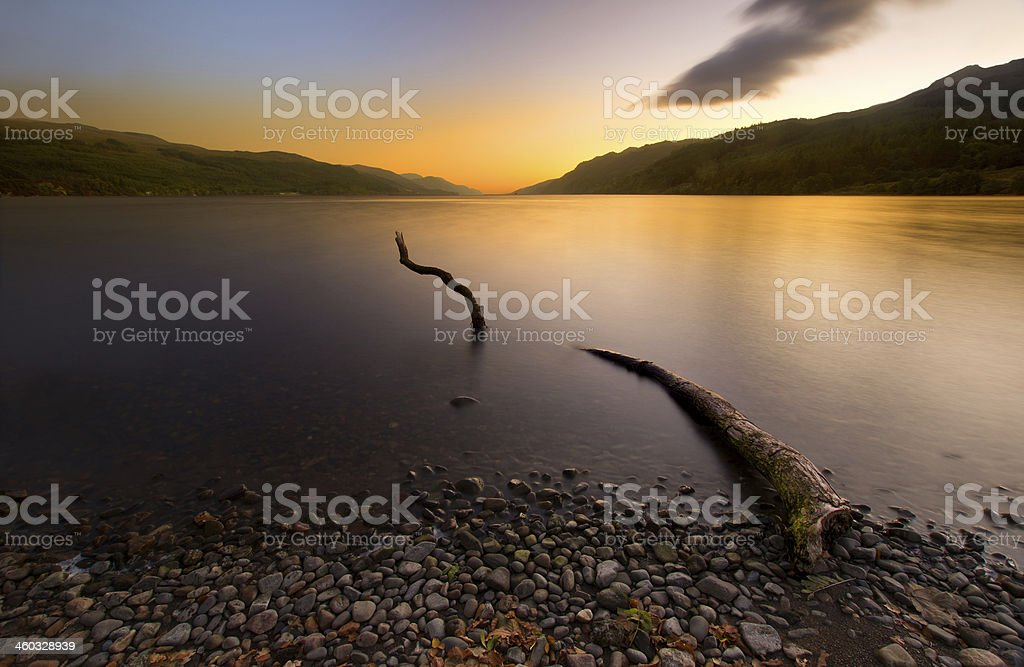 Loch Ness Monster stock photo