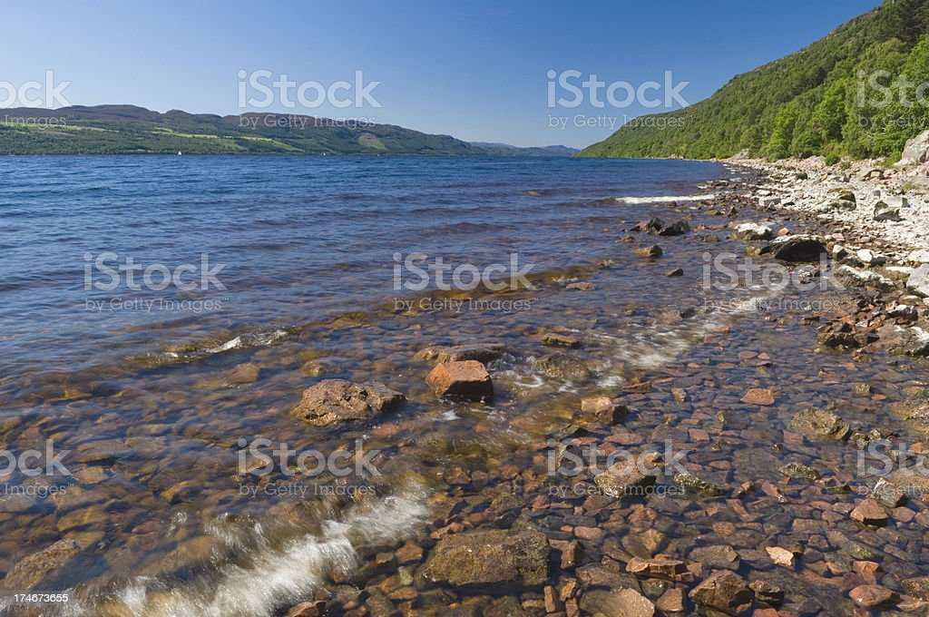 Loch Ness royalty-free stock photo