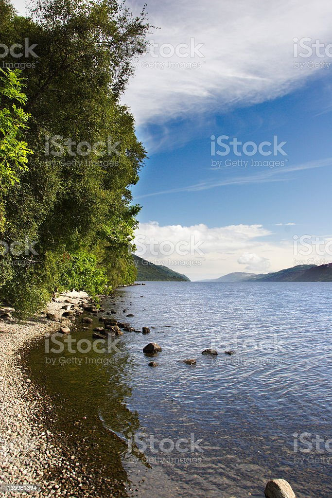 Loch Ness portrait royalty-free stock photo