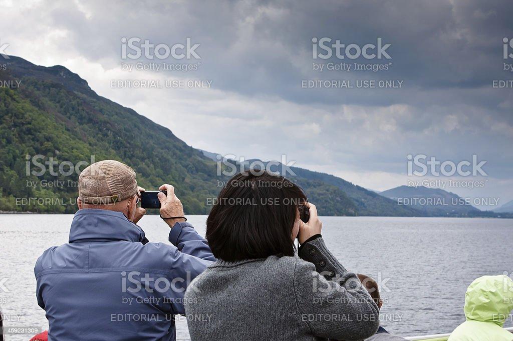 Loch Ness Tourists stock photo