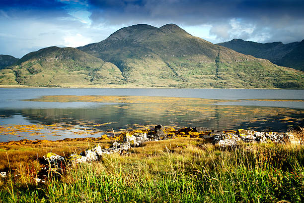 Loch on Isle of Mull stock photo