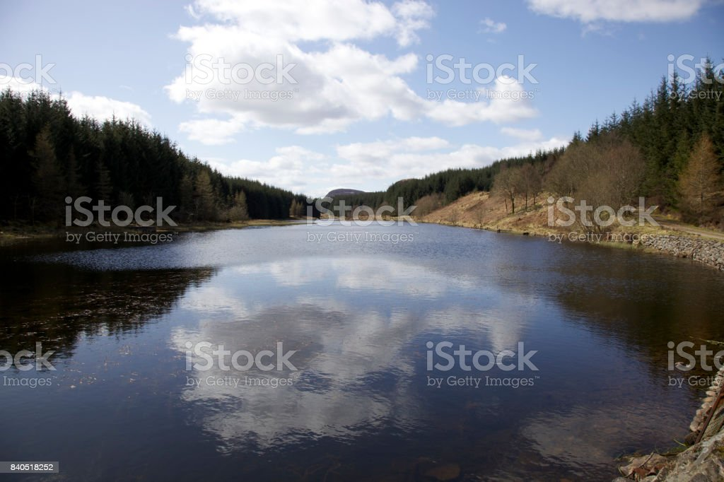 Loch on the Rob Roy Way stock photo