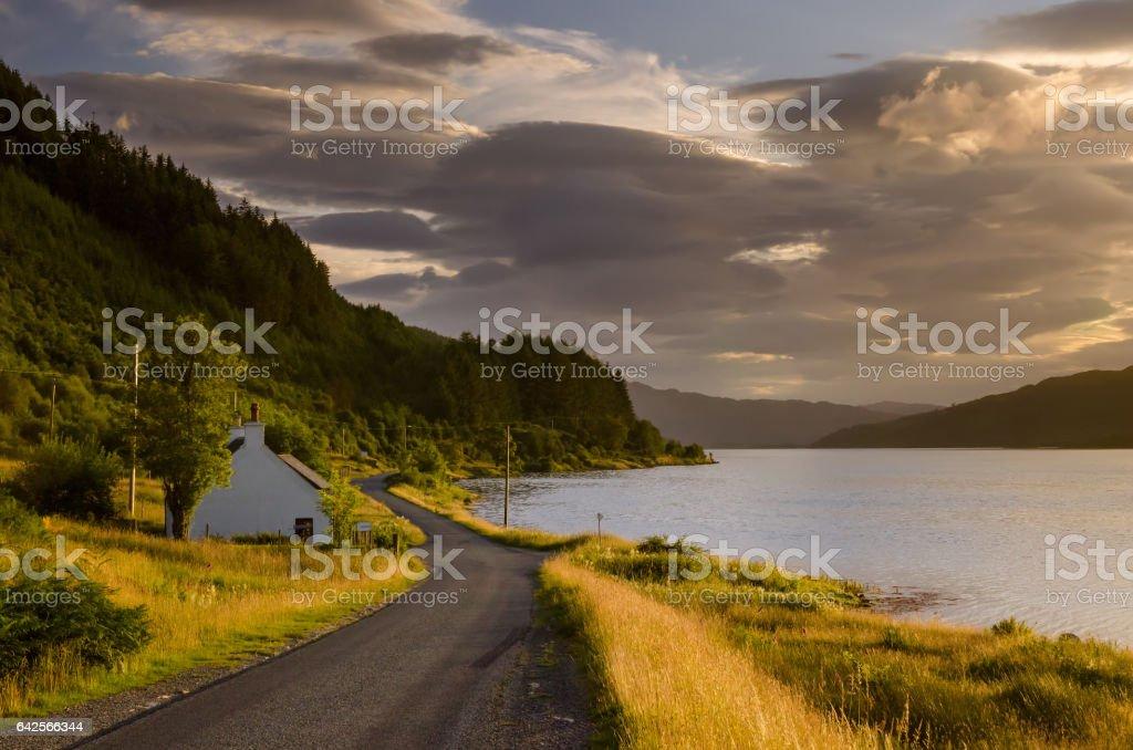 Loch Sunart stock photo