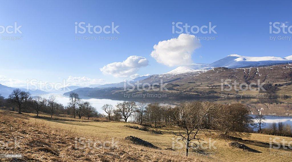 Loch Tay and Ben Lawers royalty-free stock photo