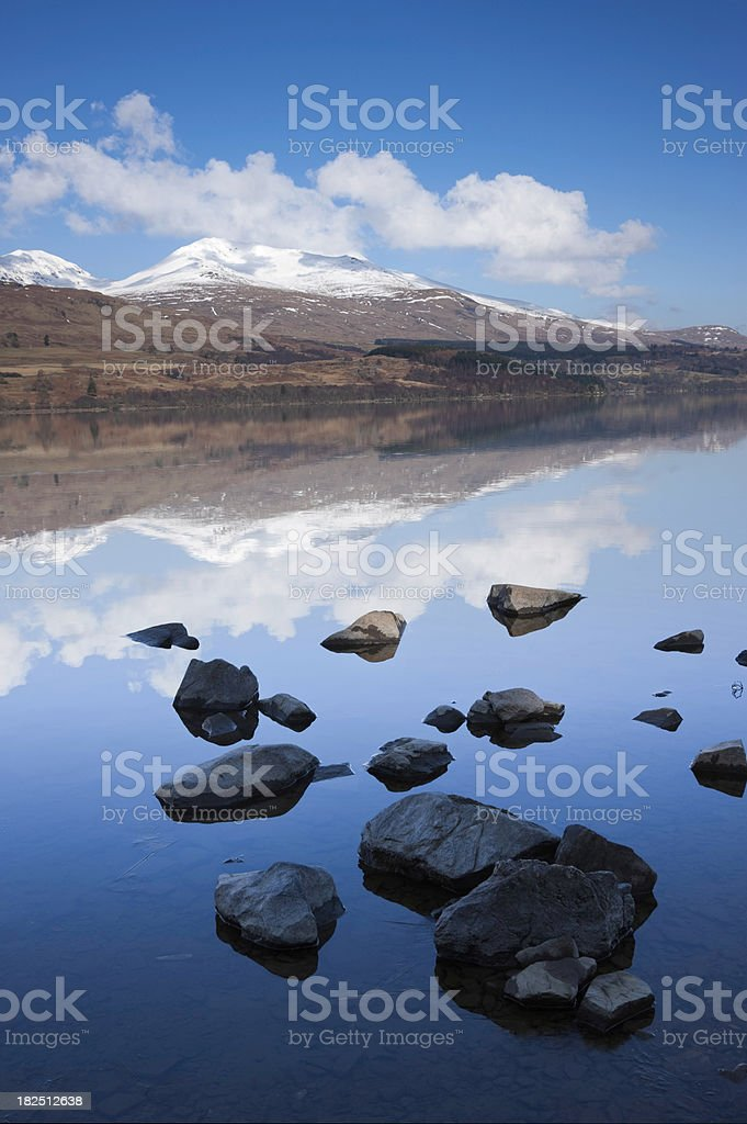 Loch Tay And Meall Greigh stock photo