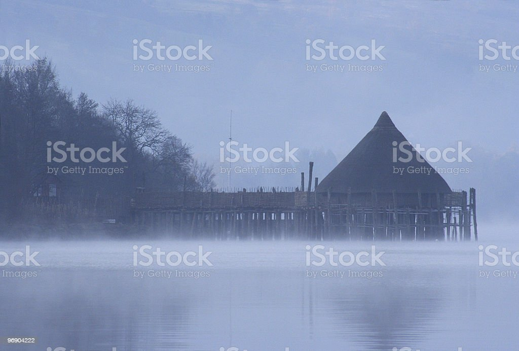 loch tay crannog royalty-free stock photo