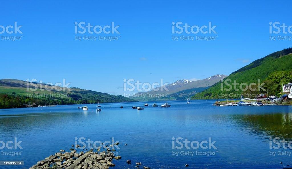 Loch Tay. zbiór zdjęć royalty-free