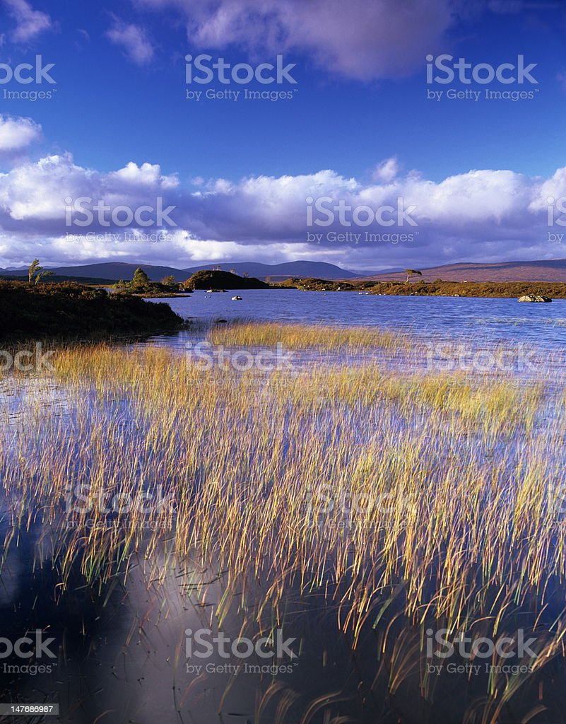 Lochan Na h'Achlaise in summer stock photo