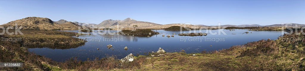 Lochan na h-Achlaise Panorama stock photo