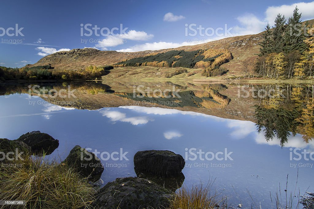 Lochan na h-Achlaise - Scottish Highlands royalty-free stock photo