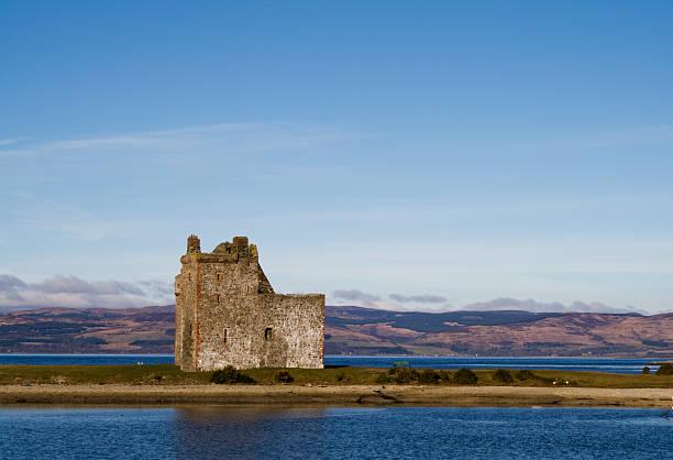 Lochranza Castle stock photo