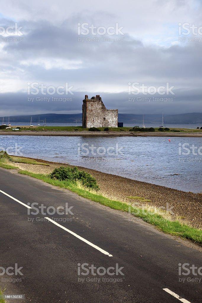 Lochranza Castle, Scotland royalty-free stock photo
