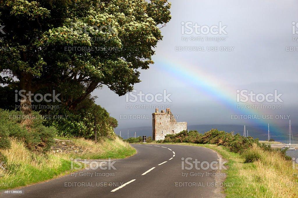 Lochranza Castle, Scotland stock photo