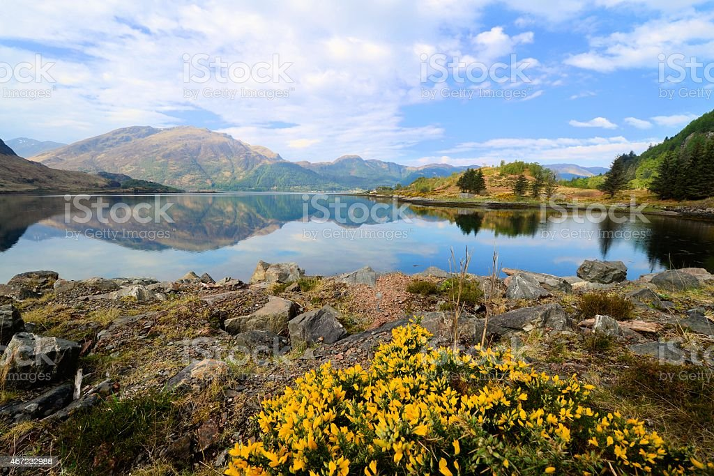 Lochs and highlands of Scotland stock photo