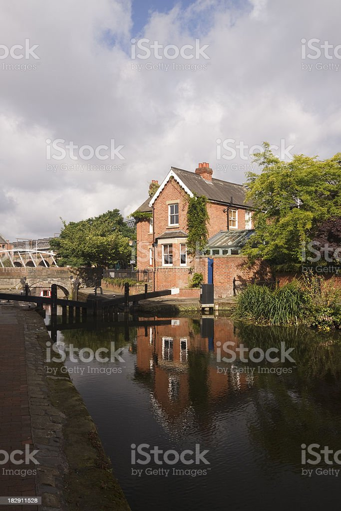 Lock 92 in Manchester, England stock photo
