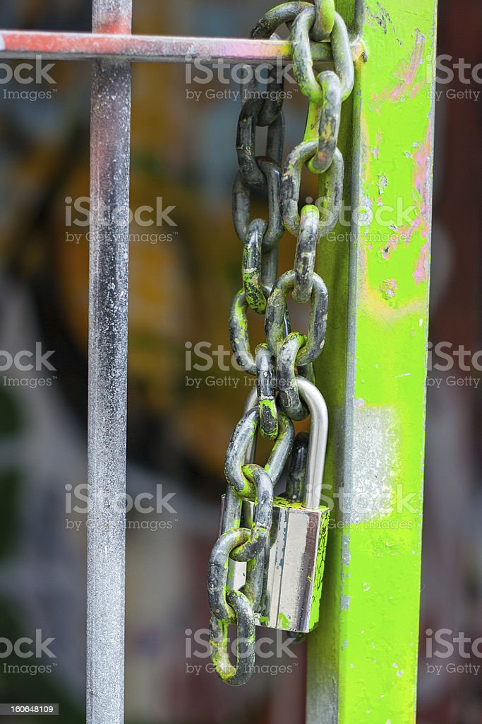 Lock an chain royalty-free stock photo