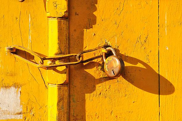 lock and door stock photo