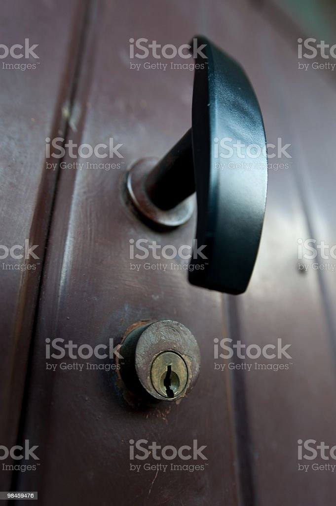Lock And Handle royalty-free stock photo