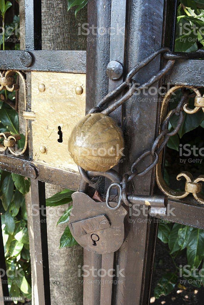 Lock and key. stock photo