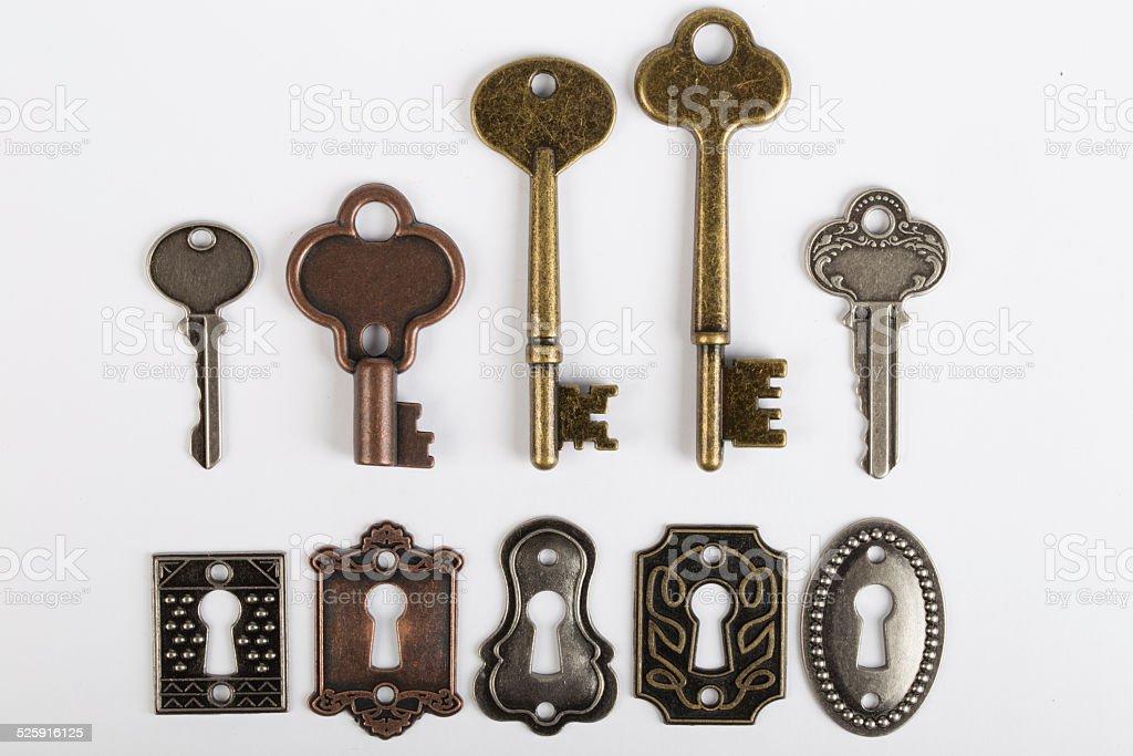 lock and key stock photo