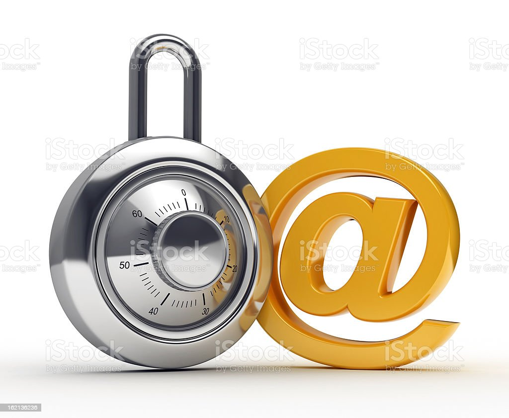 lock and mail symbol royalty-free stock photo