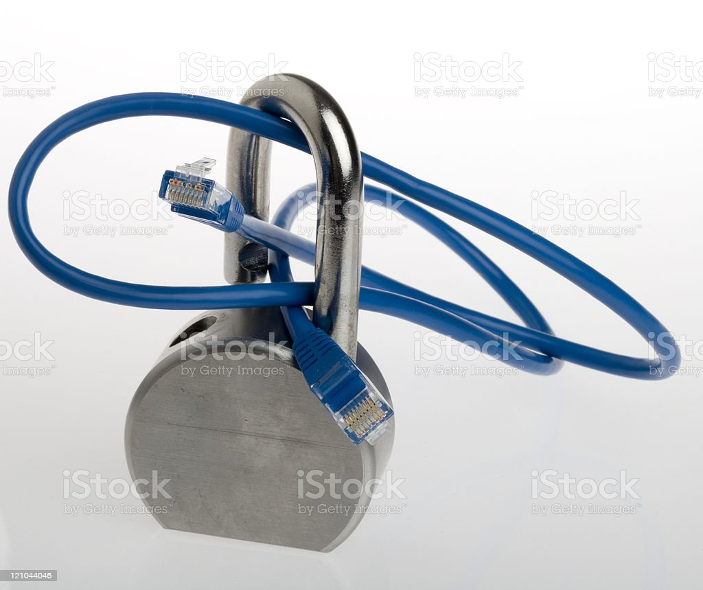 Lock and secure royalty-free stock photo