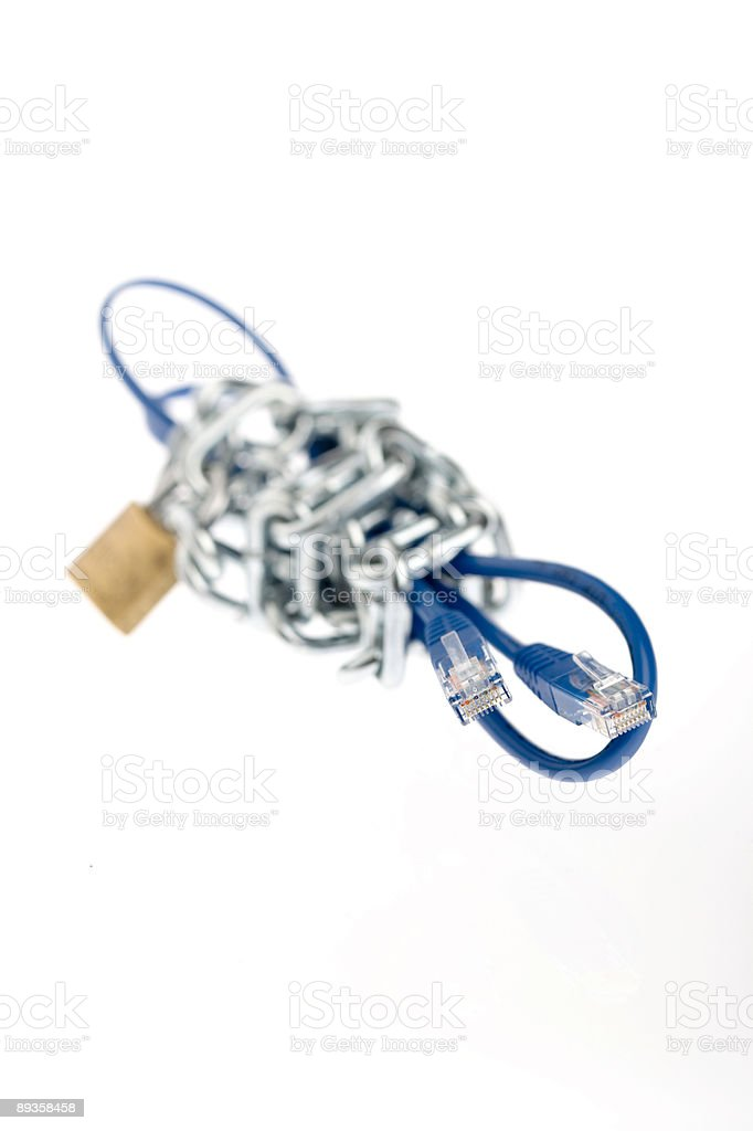 Lock and secure royalty free stockfoto