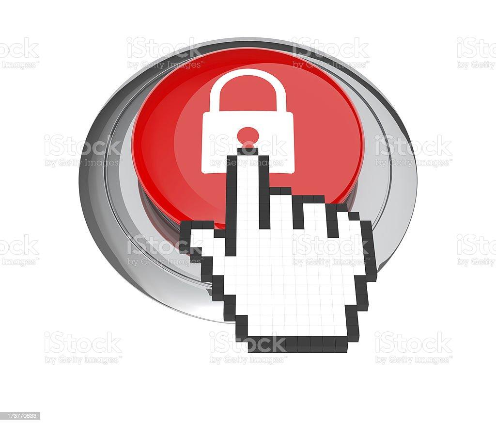 Lock Button royalty-free stock photo