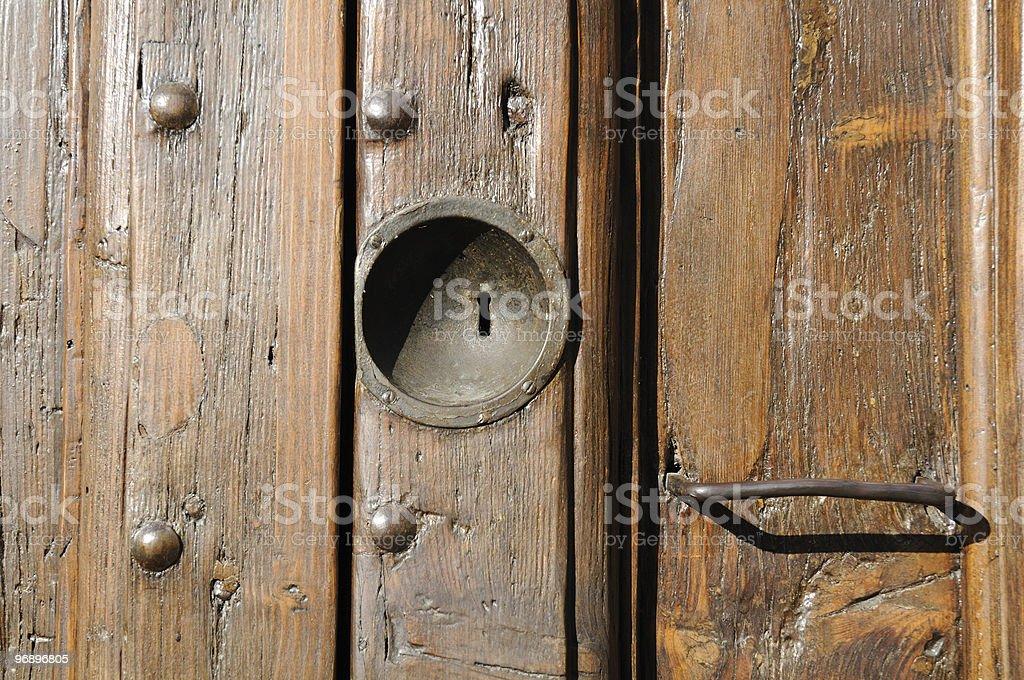 Lock door royalty-free stock photo