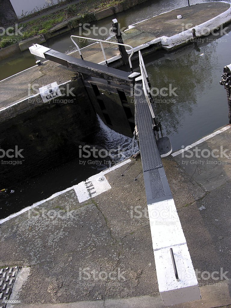 lock gates from above royalty-free stock photo