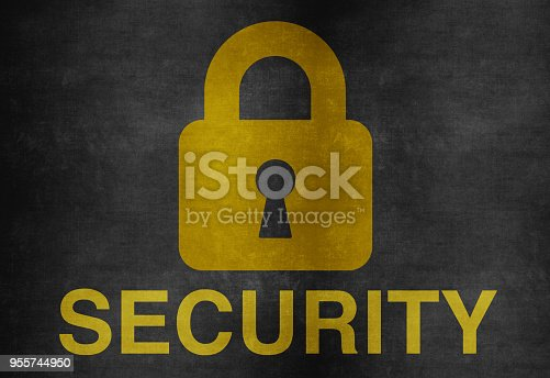 957759714istockphoto Lock Icon on Blackboard 955744950