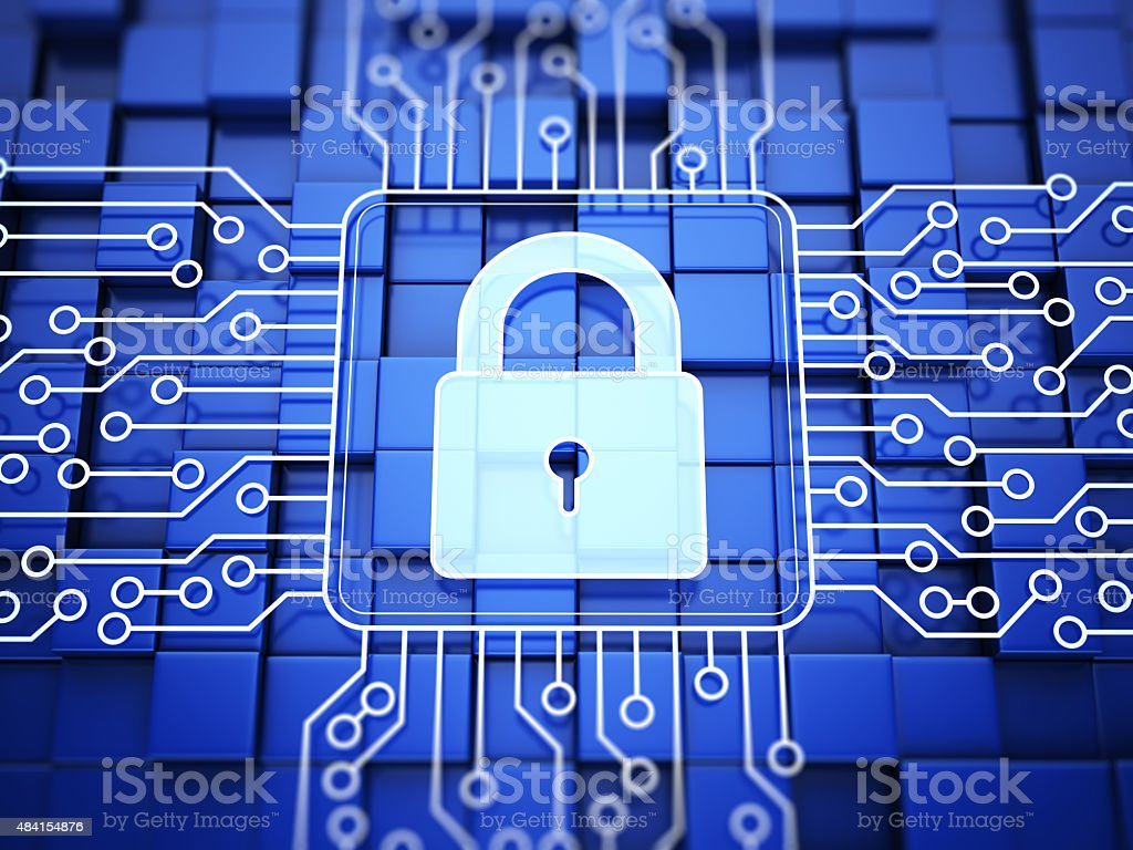 Lock. Internet Security Concept stock photo