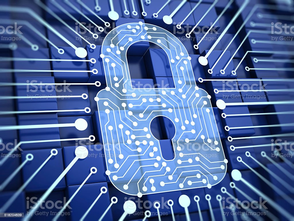 Lock. Internet Security stock photo